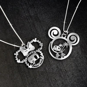$69 For 2 Stunning Necklaces: Happy Campers Minnie Mouse and Camping