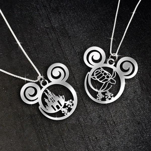 $69 For 2 Stunning Necklaces: Mickey Castle + Turtle