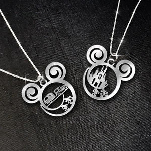 $69 For 2 Stunning Necklaces: Mickey Castle + Camping Car