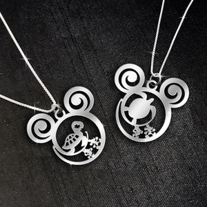 $69 For 2 Stunning Necklaces: Turtle and Baby Sea Turtle