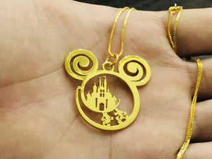 14K Gold - Disney Is Calling Handmade Necklace