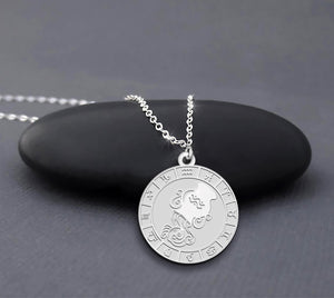 925 Sterling Silver Aquarius Zodiac Necklace Zodiac Jewelry Aquarius Gift Necklace For Aquarius