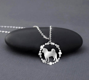 Akita - Dog Breeds Sterling Silver Necklace