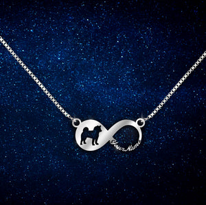 Akita - Dog Breeds infinity love Necklace
