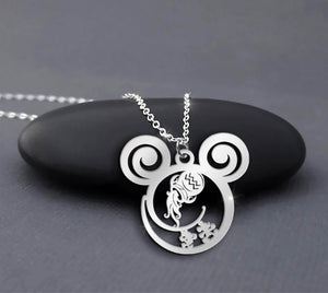 Aquarius Zodiac Necklace Sterling Silver Aquarius Disney Is Calling Necklace