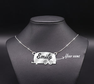 Camper Car Necklace Customized Name