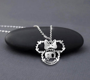 Happy Campers Minnie Mouse necklace