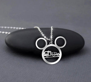 Camping Mickey Head Necklace