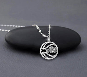 Cleveland Cavaliers Basketball Sterling Silver Necklace