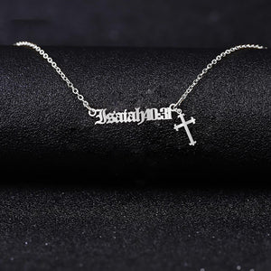 Custom Bible Verses - Jesus Cross Necklace