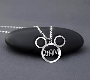 Custom Name Mickey Mouse Necklace