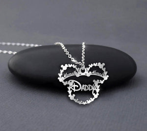 Custom Your Daughter Name/ Son Name - Daddy Mickey Mouse Necklace
