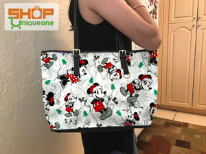 Mic Cartoon Christmas Pattern Tote Bag