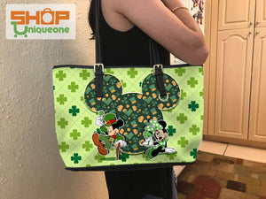 Patrick's Day Mk Mouse Patten Tote Bag