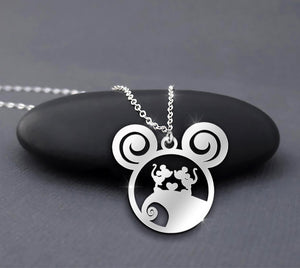 Disney Mickey And Minnie Kiss - Nightmare Before Christmas Necklace