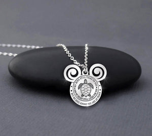 Disney Necklace - Turtle - My Mind Still Talks To You