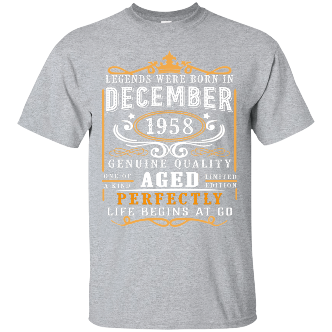 28895821c Legends Born in December 1958 60th Awesome Birthday T Shirt - Shop ...