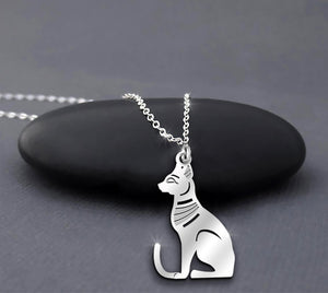 Egyptian Cat Bastet Ancient Egypt Goddess Necklace