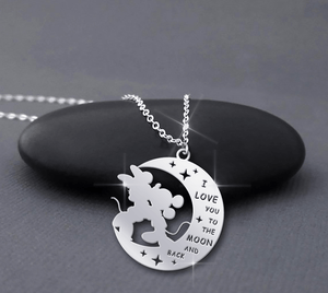 Moon And Back Handmade Sterling Silver Necklace