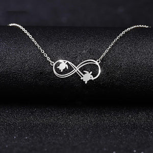 Love The Turtle Infinity 925 Silver Necklace