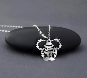 Father's Day - Happy Father's Day Mickey Necklace