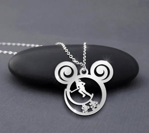 Female Hockey Player Running Is Calling Necklace