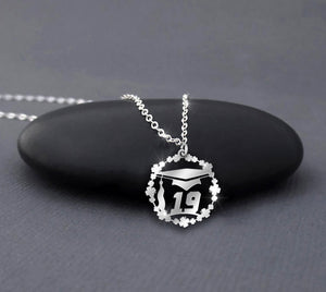 Graduation Cap 2019 Gift - Sterling silver necklace