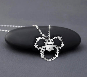 Graduation Cap Gown - Mickey Mouse Necklace