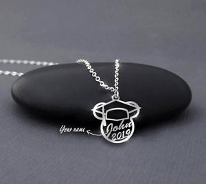 Graduation Custom Name - Graduation Mickey necklace