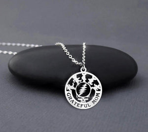 Grateful Dad - Grateful Mom Sterling Silver Necklace 2