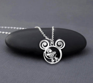 Halloween Cat Witch Calling Necklace