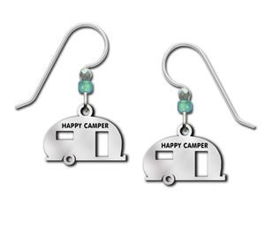 Happy Camper Caping Car Disney Mickey Mouse Silver Earrings
