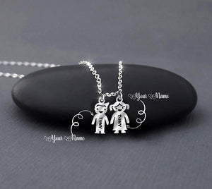 Happy Family - Custom Name Necklace