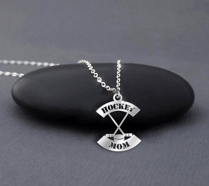 Hockey Mom Sterling Silver Necklace