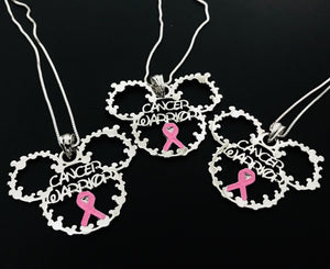 "Breast Cancer Warrior Necklace - Use ""FREEWK"" To Get Free Shipping"