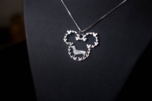 Dachshund Dog breeds Handmade Sterling Silver Necklace