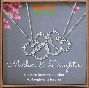Sterling Silver Necklace Handmade For Mom And Daughter