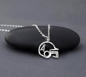 Los Angeles Angels Baseball Helmet Sterling Silver Necklace
