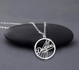 Los Angeles Dodgers in Circle necklace