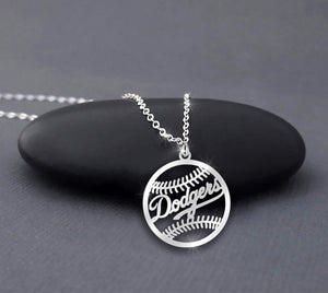MLB Los Angeles Dodgers Baseball Necklace