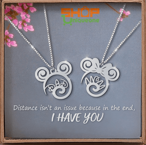 Mom Dad 2 Handmade Sterling Silver Necklace