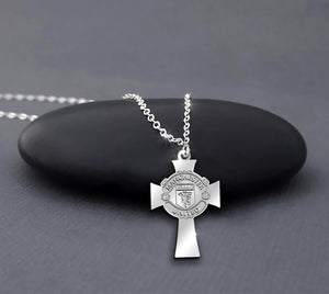 Manchester United Logo Cross Sterling Silver Necklace