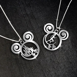 $69 For 2 Stunning Necklaces: Mickey Castle + Runner