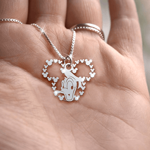 Donald Duck Handmade Sterling Silver Necklace