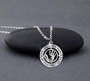 Mother and Son Sterling Silver Necklace