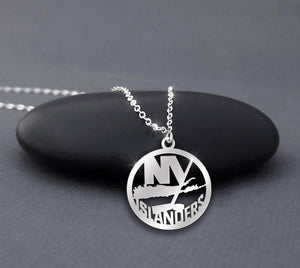 New York Islanders Is NY Hockey Necklace