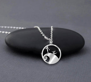 Nightmare Before Christmas in Circle Necklace