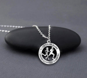 Personalize Team Name - Cross Country Running - Custom Necklace
