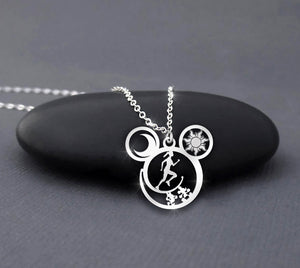 Run and Always Run - Sun and Moon Necklace
