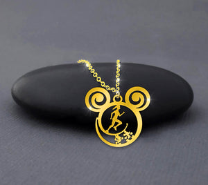 Runner Gold Plated Disney Calling Necklace